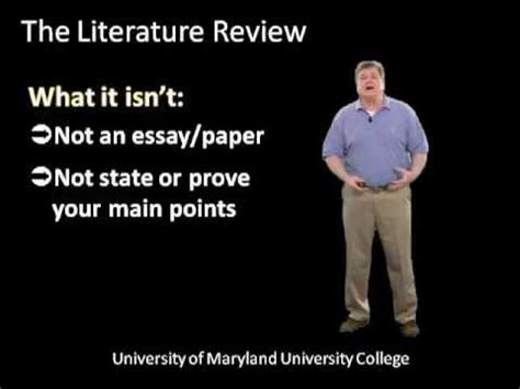 Written literature review examples